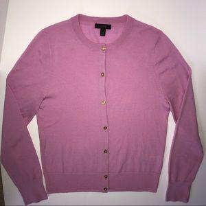 Pink J. Crew Merino wool Jackie Cardigan size M